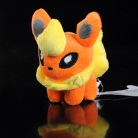 "NEW TOMY Pokemon Pikachu 6"" FLAREON Plush Figure Doll Toy"
