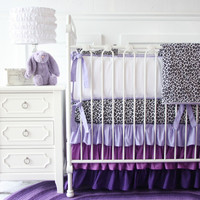 Purple Leopard Baby Bedding | Leopard Crib Bedding Set