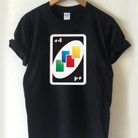 Uno Card Game Draw Four T-shirt Men, Women Youth and Toddler