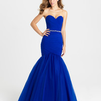 Madison James 16-354 Tulle Mermaid Prom Dress Evening Gown