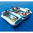"""New Giant Inflatable Floating Island 6 Person Raft Pool Lake Float 15'-8""""x 9'-4'"""