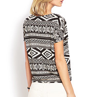 Boxy Tribal Print Top