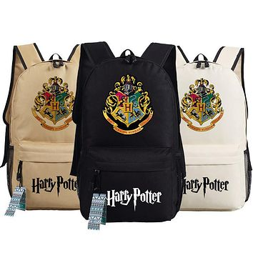 Harry Potter Backpack School Bags Book Student Bag Cosplay Hogwarts Fashion Shoulder Bag Backpacks Travel Bag for teenagers