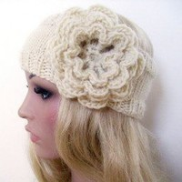 Knit Headband with Crochet Flower Pattern | Los Angeles Needlework