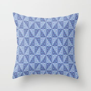 Whirligig Pattern Throw Pillow by Cveti