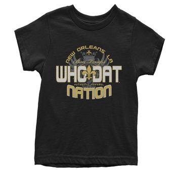 Who Dat Nation New Orleans (Color) Youth T-shirt