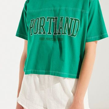 Truly Madly Deeply Keep Portland Green Tee | Urban Outfitters