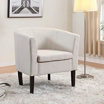 New Century® Simon Linon Club Linen Chair, Ivory