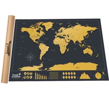 TravelScratcher Scratch-Off World Map