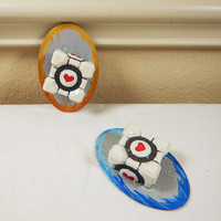 Companion Cube, Portal, Weighted Companion Cube, Video Game Portal, Portal Companion Cubes, Aperture Science, Cubes, Think Geek, Portal Game
