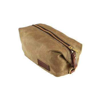 Waxed Canvas Dopp Kit- Sage