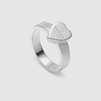 Gucci - Heart ring with Gucci trademark
