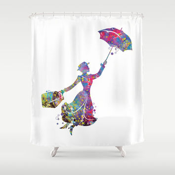 Mary Poppins Shower Curtain by Bitter Moon