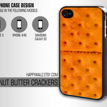 Peanut Butter Crackers Iphone Case Iphone 4 case Iphone 5 case Iphone 4s case Samsung Galaxy S3 Case Iphone 4 5 Cover
