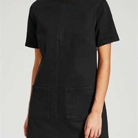 Patch Pocket Denim Shift Dress - Matalan