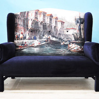 Bosphorus Wing Back-patchwork sofa