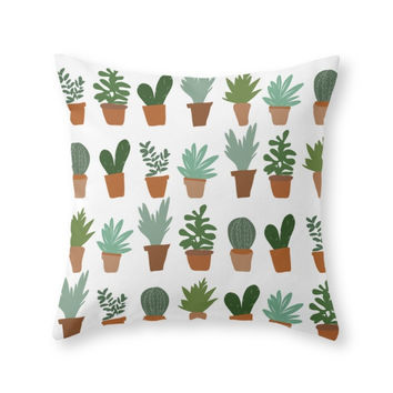 Society6 Succulent Throw Pillow