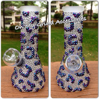WATER PIPE -- Top to Bottom Opaque and Iridescent Cheetah Print