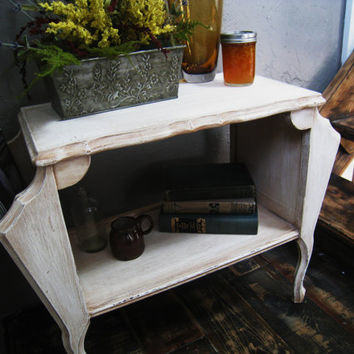 Shabby Chic Side Table Home Decor