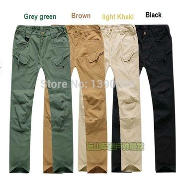 Men cotton Tactical Pants Hunting clothes outdoor sports  trousers pockets cargo pants for Outdoor Hunting Birdwatch Wargame