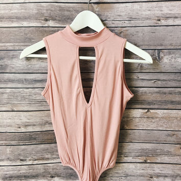 Light Pink Key Hole Body Suit