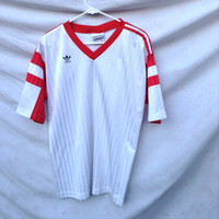 vintage ADIDAS SOCCER Jersey // Made in America in the 80's // Size XL