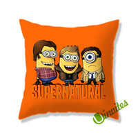 Minion Supernatural Square Pillow Cover