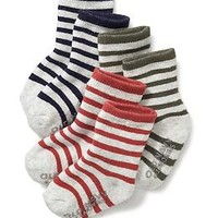 Non-Skid Striped Socks 3-Pack for Baby