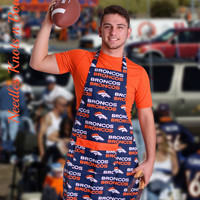 Denver Bronco's Apron, Unisex Apron, Mens Bronco's Apron, Womens Apron, Football Team Apron, Gifts for Him