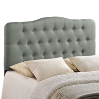 Annabel Full Fabric Headboard in Gray