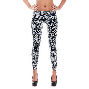 Music pattern Leggings