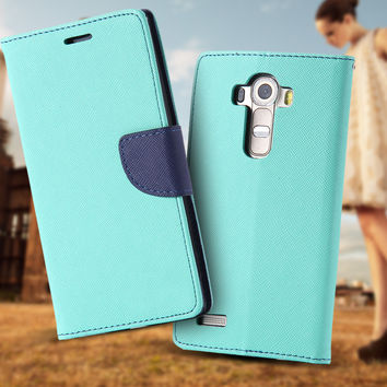 G4 High Quality PU Leather Full Cover For LG G4 Flip Phone Housing Stand Holder Card Insert With Logo Cell Phone Case For LG G4