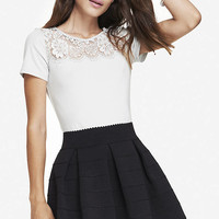 LACE YOKE TEE from EXPRESS