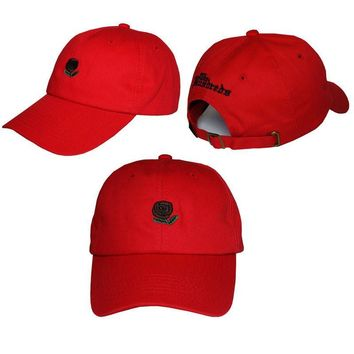 Red The Hundreds Rose Strap Cap Adjustable Golf Snapback Baseball Hat