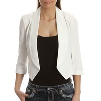 Women's Cropped Black and White Blazers - Outerwear - Women's Western Clothing - Womens