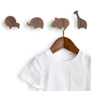 Safari animal wall hook - pick 4