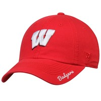 Wisconsin Badgers Top of the World Women's Crew Adjustable Hat - Red