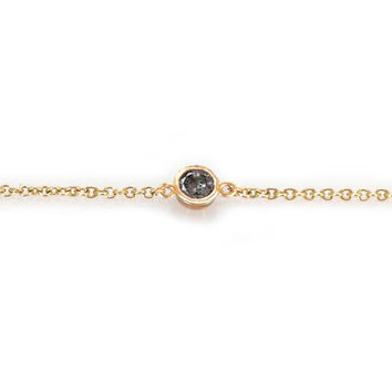 Salt and Pepper Diamond Point Bracelet
