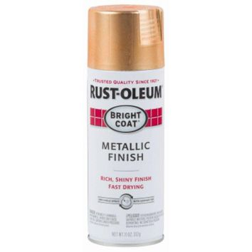 Rust-Oleum® 314417 Stops Rust® Bright Coat® Metallic Spray Paint, Copper, 11 Oz