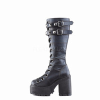 Assault 202 Knee High Platform Combat Boot