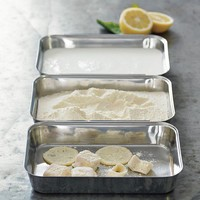 Stainless-Steel Breading Pan, Set of 3