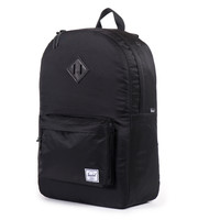 Herschel Supply Co.: Heritage Nylon Backpack - Black