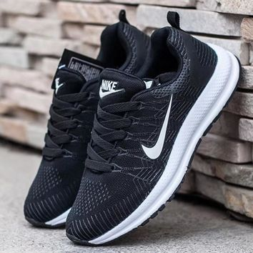 Nike Fashion Women Men Running Sport Casual Shoes Sneakers Black