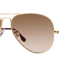 Ray-Ban RB3025 001/51 58-14 AVIATOR GRADIENT Gold sunglasses | Official Online Store US