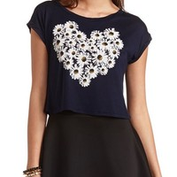 DAISY HEART GRAPHIC CROP TOP
