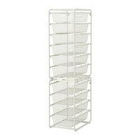 ALGOT Frame with mesh baskets, white - IKEA