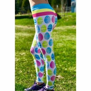Easter Leggings - Egg Leggings - Easter Costume - Easter Egg - Colorful