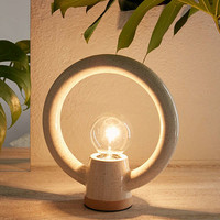 Ayo Ceramic Circle Table Lamp | Urban Outfitters