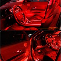 RED 4pcs 36 LED Waterproof Three Mode Neon Accent light Kit for Car Interior Trunk Truck Bed Bush Fender