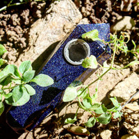 Blue Sandstone Natural Healing Crystal Pipe!